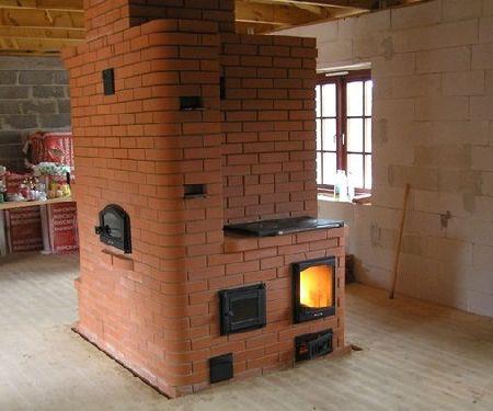 Печка в дом своими руками