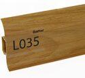Напольный плинтус LinePlast Стандарт L035 Орех итальянский