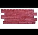 Цокольный сайдинг Техоснастка Альпийская Сказка Бордовый
