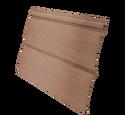 Виниловый сайдинг Grand Line Блок-хаус Темно-бежевый