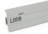 Напольный плинтус LinePlast L008 Серый однотонный