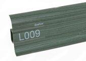 Напольный плинтус LinePlast Стандарт L009 Клен зелёный