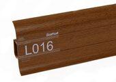 Напольный плинтус LinePlast L016 Светлый махагон