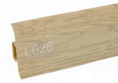 Напольный плинтус LinePlast L026 Дуб мокко