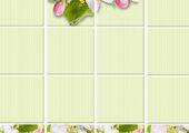 StarLine Плитка 3D Яблоневый цвет зеленый