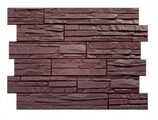 Цокольный сайдинг Holzplast Скол Темно-коричневый