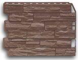 Цокольный сайдинг Holzplast Скол Светло-коричневый
