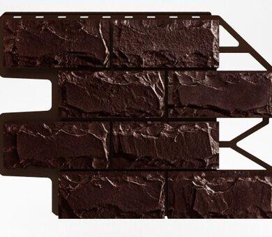 Цокольный сайдинг Holzplast Доломит Тёмно-коричневый