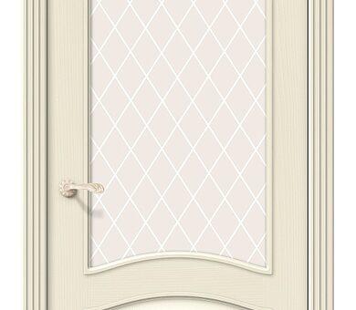 Дверь межкомнатная шпонированная Браво Вуд Классик-33 Ivory