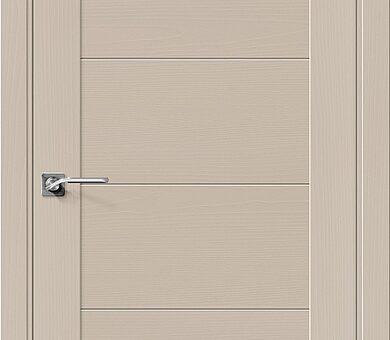 Дверь межкомнатная шпонированная Браво Вуд Модерн-21 Latte