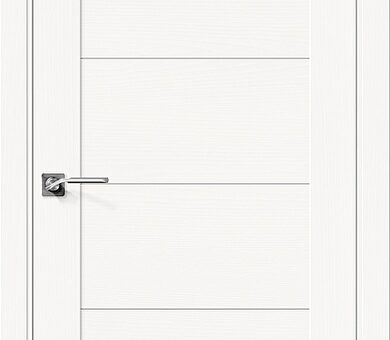 Дверь межкомнатная шпонированная Браво Вуд Модерн-21 Whitey