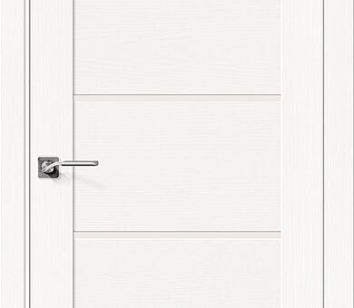 Дверь межкомнатная шпонированная Браво Вуд Модерн-22 Whitey