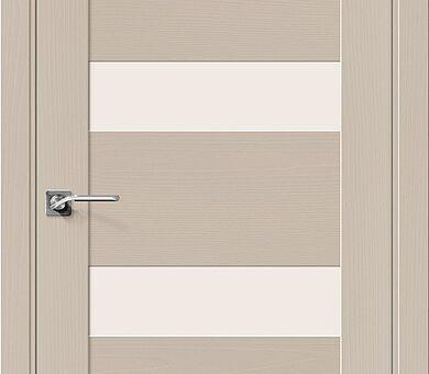 Дверь межкомнатная шпонированная Браво Вуд Модерн-23 Latte