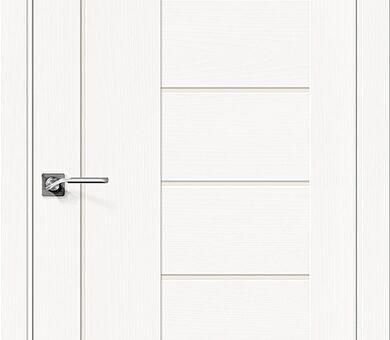 Дверь межкомнатная шпонированная Браво Вуд Модерн-29 Whitey