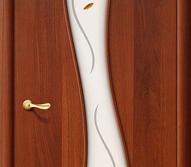 Дверь межкомнатная Браво-11Ф Л-11 (ИталОрех)