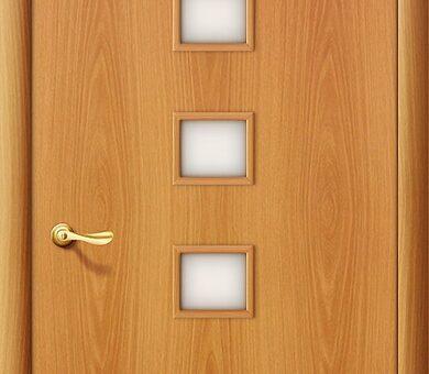 Дверь межкомнатная Браво-1С Л-12 (МиланОрех)