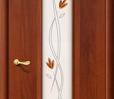 Дверь межкомнатная Браво-22Х Л-11 (ИталОрех)