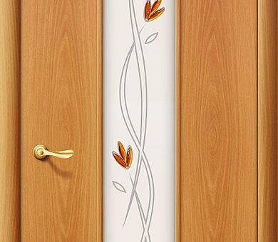 Дверь межкомнатная Браво-22Х Л-12 (МиланОрех)