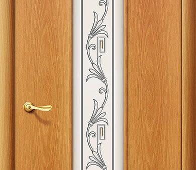 Дверь межкомнатная Браво-24Х Л-12 (МиланОрех)