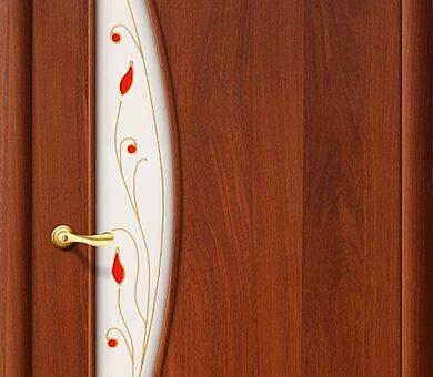 Дверь межкомнатная Браво-5П Л-11 (ИталОрех)