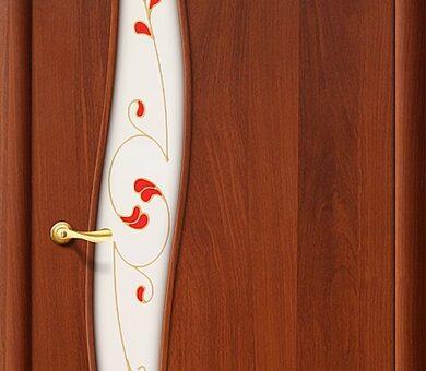 Дверь межкомнатная Браво-6П Л-11 (ИталОрех)