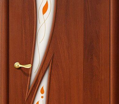 Дверь межкомнатная Браво-8П Л-11 (ИталОрех)