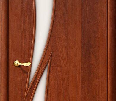 Дверь межкомнатная Браво-8С Л-11 (ИталОрех)