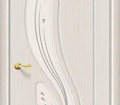 Дверь межкомнатная Браво Лотос П-20 (БелДуб) Остекленная