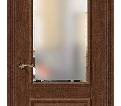 Дверь межкомнатная евро шпон Браво Классико-13 Brown Oak