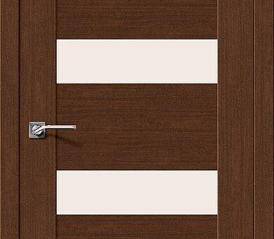 Дверь межкомнатная евро шпон Браво Легно-23 Brown Oak