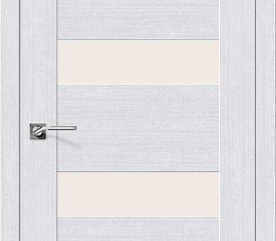 Дверь межкомнатная евро шпон Браво Легно-23 Milk Oak