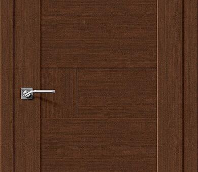 Дверь межкомнатная евро шпон Браво Легно-38 Brown Oak