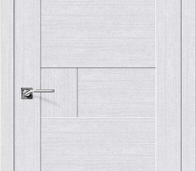 Дверь межкомнатная евро шпон Браво Легно-38 Milk Oak
