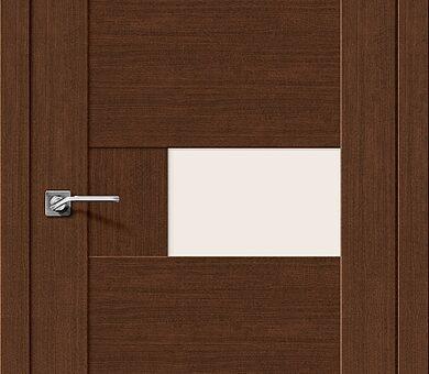 Дверь межкомнатная евро шпон Браво Легно-39 Brown Oak