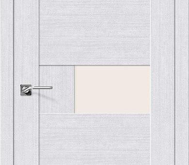 Дверь межкомнатная евро шпон Браво Легно-39 Milk Oak