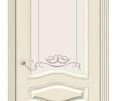 Дверь межкомнатная шпонированная Браво Вуд Классик-51 Ivory