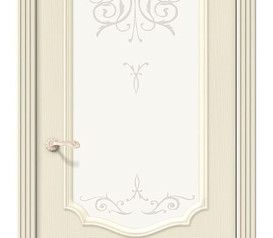 Дверь межкомнатная шпонированная Браво Вуд Классик-53 Ivory