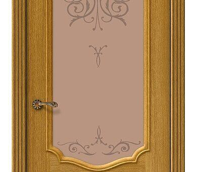 Дверь межкомнатная шпонированная Браво Вуд Классик-53 Natur Oak