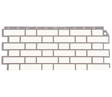 Фасадная панель FineBer Облицовочный кирпич Белый