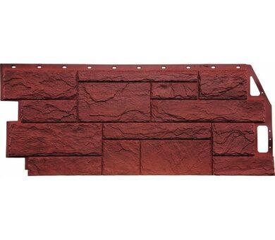 Фасадная панель FineBer Природный камень Красно-коричневый