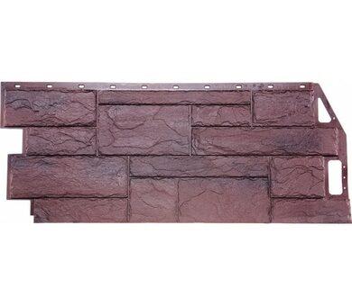 Фасадная панель FineBer Природный камень Серо-коричневый