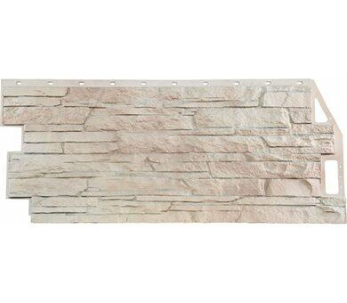 Фасадная панель FineBer Скала Мелованный белый