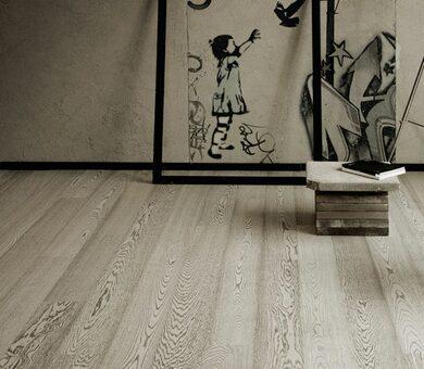 Паркетная доска Karelia Urban Soul Дуб FP Concrete Grey