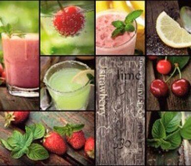 Кухонный фартук ХДФ Фруктово-ягодный микс