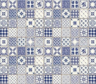 Кухонный фартук ХДФ Голубая плитка