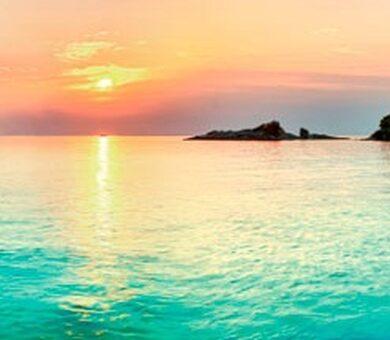 Кухонный фартук ХДФ Закат на море