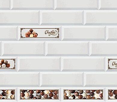 Кухонный фартук ПВХ Белый Кирпич