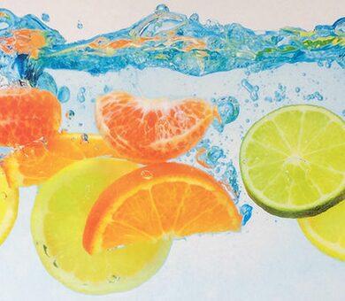 Кухонный фартук ПВХ Фрукты в воде