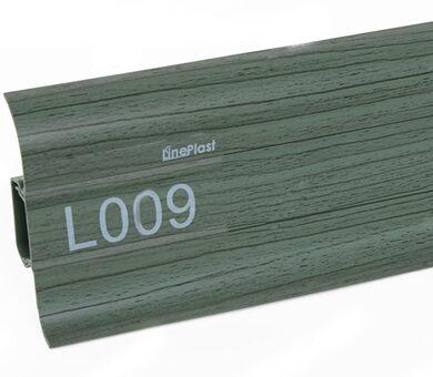 Напольный плинтус LinePlast L009 Клен зелёный