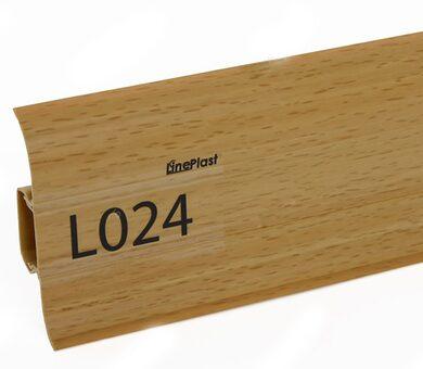 Напольный плинтус LinePlast L024 Бук светлый